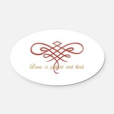 Wedding Love Quilt Oval Car Magnet