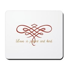 Wedding Love Quilt Mousepad