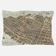 Vintage Pictorial Map of Charleston (1 Pillow Case