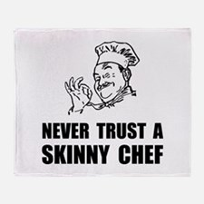 Skinny Chef Throw Blanket