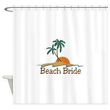 Beach Bride Shower Curtain
