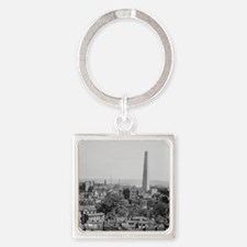 Vintage Photograph of Charlestown  Square Keychain