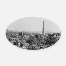Vintage Photograph of Charlestown  Oval Car Magnet