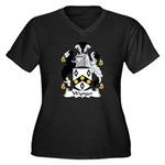 Wynger Family Crest Women's Plus Size V-Neck Dark