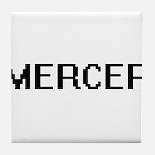 Mercer digital retro design Tile Coaster