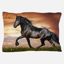 Beautiful Black Horse Pillow Case