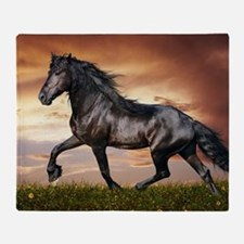 Beautiful Black Horse Throw Blanket