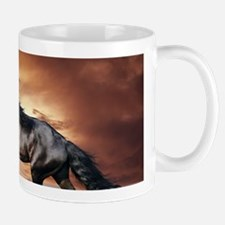 Beautiful Black Horse Mugs