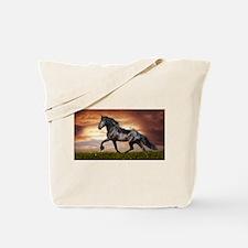 Beautiful Black Horse Tote Bag