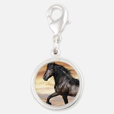 Beautiful Black Horse Charms