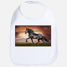 Beautiful Black Horse Bib