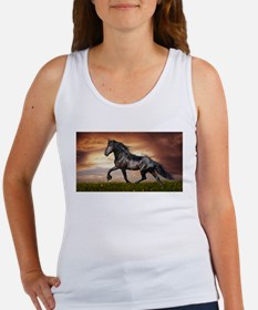Beautiful Black Horse Tank Top