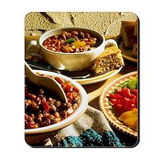 Chili with Cornbread Mousepad