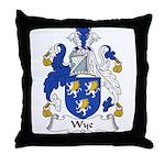 Wye Family Crest Throw Pillow