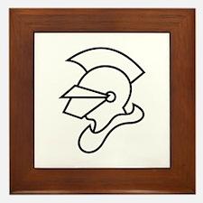 Knight Outline Framed Tile