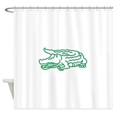 Gator Outline Shower Curtain