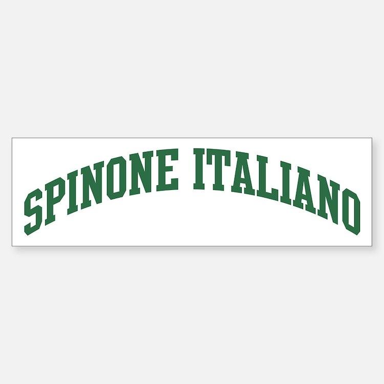 Spinone Italiano (green) Bumper Car Car Sticker