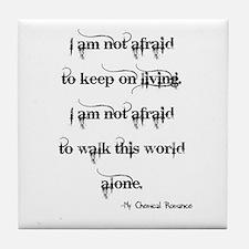 MCR Famous Last Words Tile Coaster