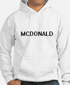 Mcdonald digital retro design Hoodie