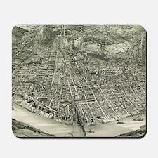 Vintage Pictorial Map of Cincinnati (190 Mousepad