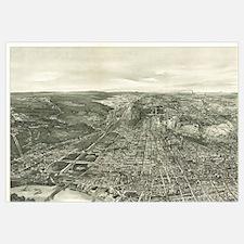 Vintage Pictorial Map of Cincinnati (1900)