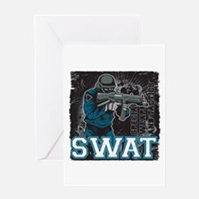 Police SWAT Team Member Greeting Card