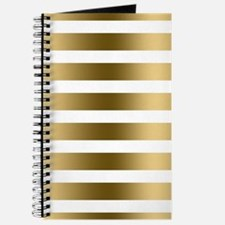 Faux gold stripes pattern elegant modern g Journal