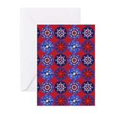 Red White & Blue Greeting Cards (Pk of 10)