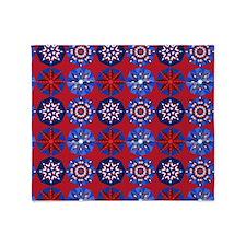 Red White & Blue Throw Blanket