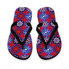 Red White & Blue Flip Flops