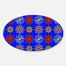 Red White & Blue Stars Sticker (Oval)