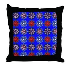 Red White & Blue Stars Throw Pillow