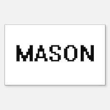 Mason digital retro design Decal