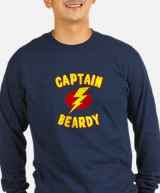 Captain Beardy Long Sleeve T-Shirt