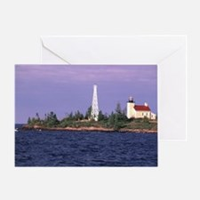 Copper Harbor Lighthouse Greeting Card