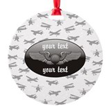 Airplane Round Ornament