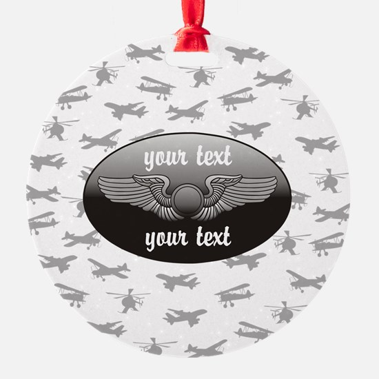 Personalized Aviation Ornament