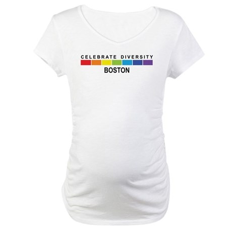 BOSTON - Celebrate Diversity Maternity T-Shirt