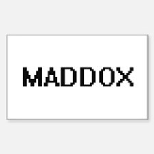 Maddox digital retro design Decal
