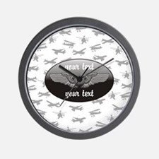 Personalized Aviation Wall Clock