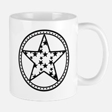 Americana Star Circle Emblem Design Mug