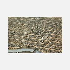 Vintage Pictorial Map of Dayton O Rectangle Magnet