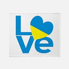 Ukrainian LOVE Throw Blanket