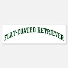 Flat-Coated Retriever (green) Bumper Bumper Bumper Sticker