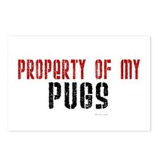 Property Of My Pugs Postcards (Package of 8)