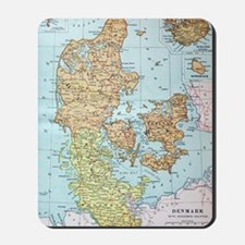 Vintage Map of Denmark (1905)  Mousepad