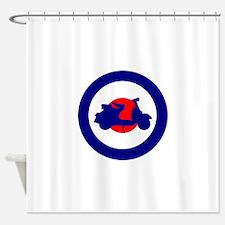 Mod Bulls Eye Shower Curtain