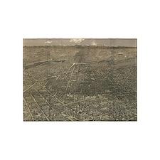 Vintage Pictorial Map of Denver Col 5'x7'Area Rug