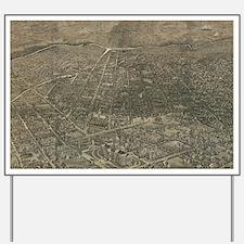 Vintage Pictorial Map of Denver Colorado Yard Sign
