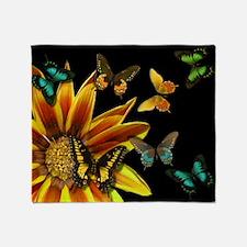 Butterfly Gardens Throw Blanket